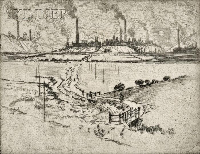 Joseph Pennell (American, 1860-1926)      Portland, Longport