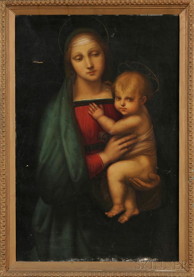 Italian School, 19th Century      Copy of Raphael's Madonna del Granduca
