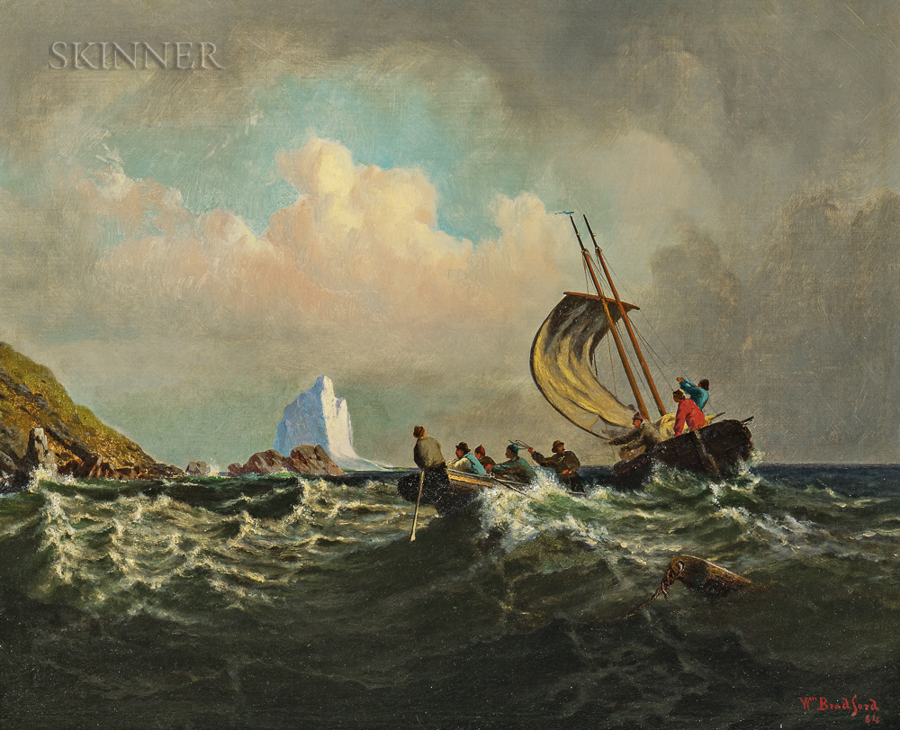 William Bradford (American, 1823-1892)      Rescue from the Rocks