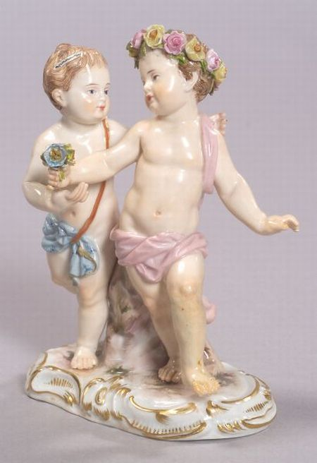 Meissen Porcelain Children Group