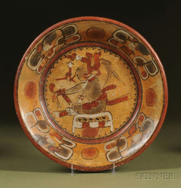Pre-Columbian Polychrome Tripod Plate