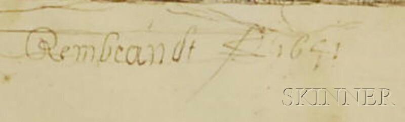 Rembrandt van Rijn (Dutch, 1606-1669) Three Etchings: Adam and Eve ...