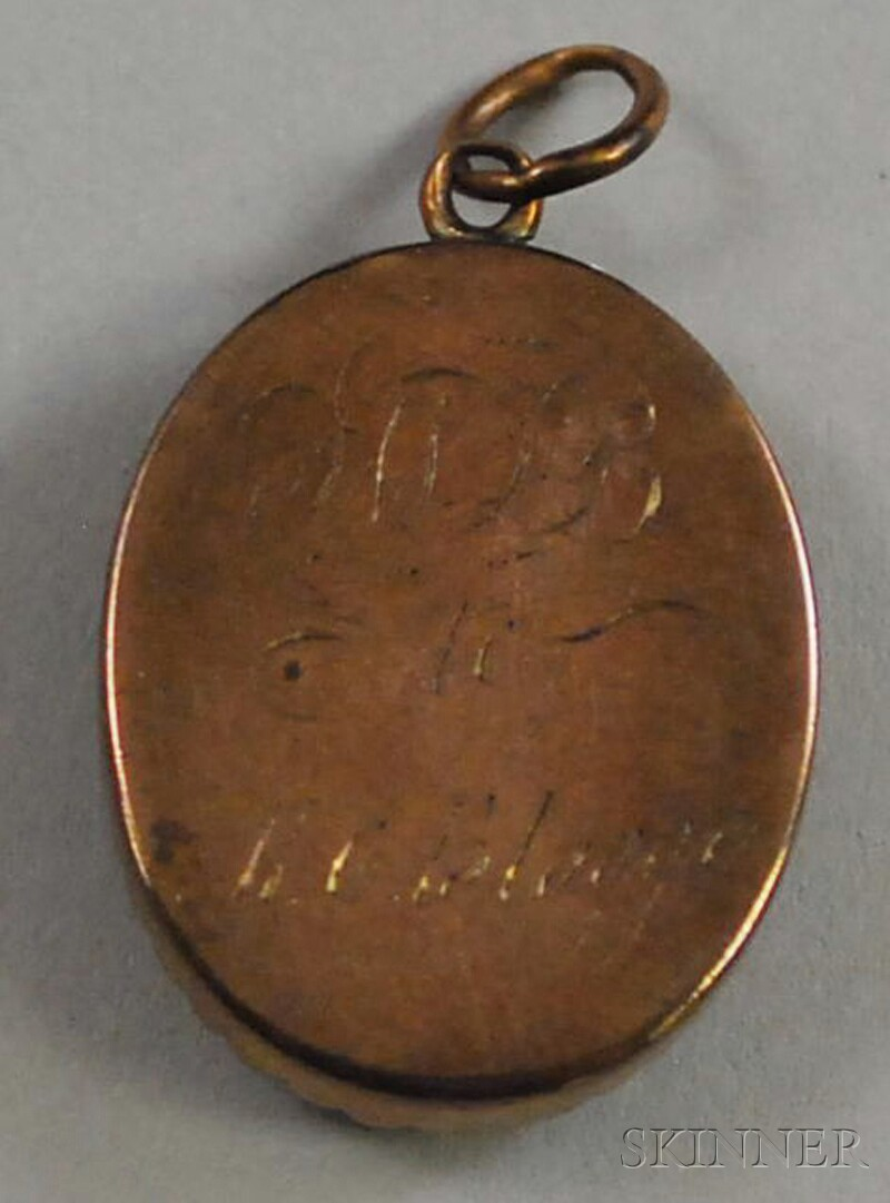 18th Century Portrait Miniature Pendant of a Gentleman in Profile