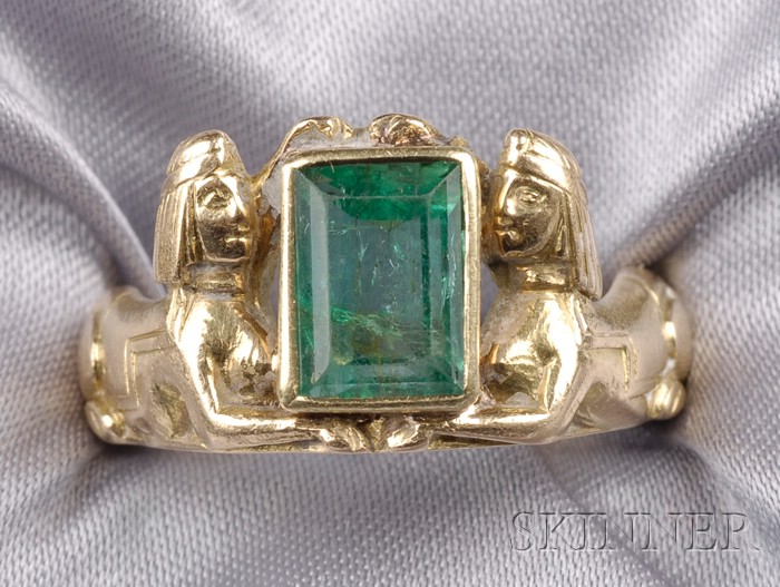 18kt Gold and Emerald Ring