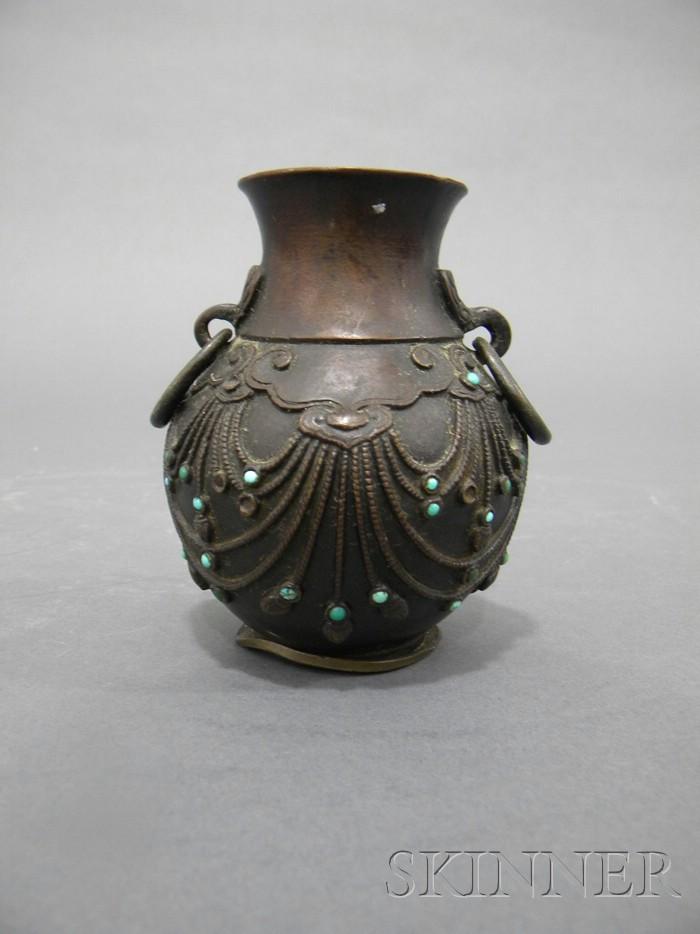 Inlaid Bronze Vase