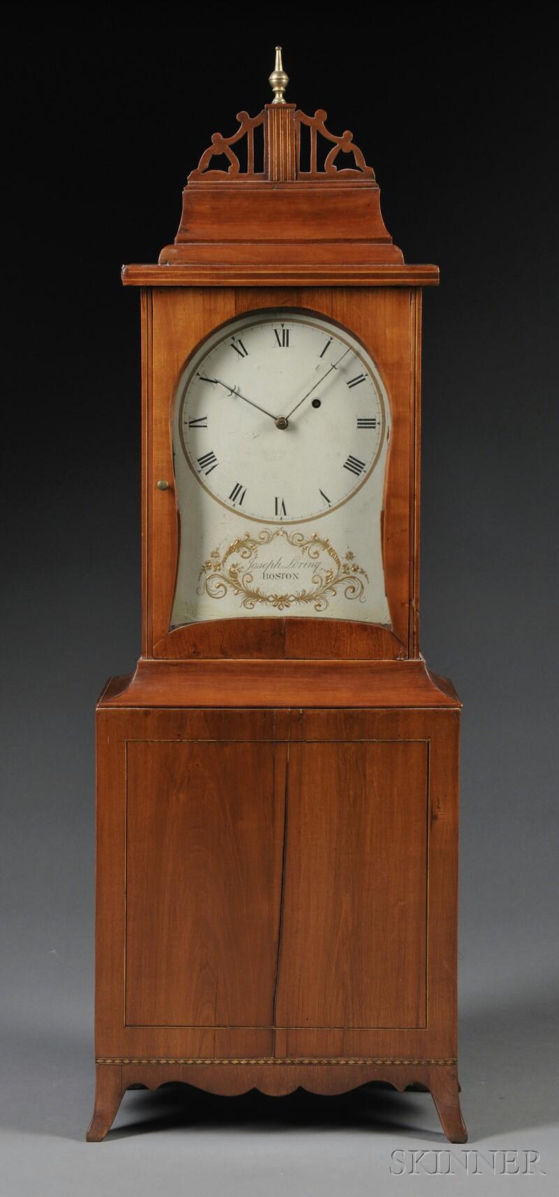 Joseph Loring Cherry Shelf Clock
