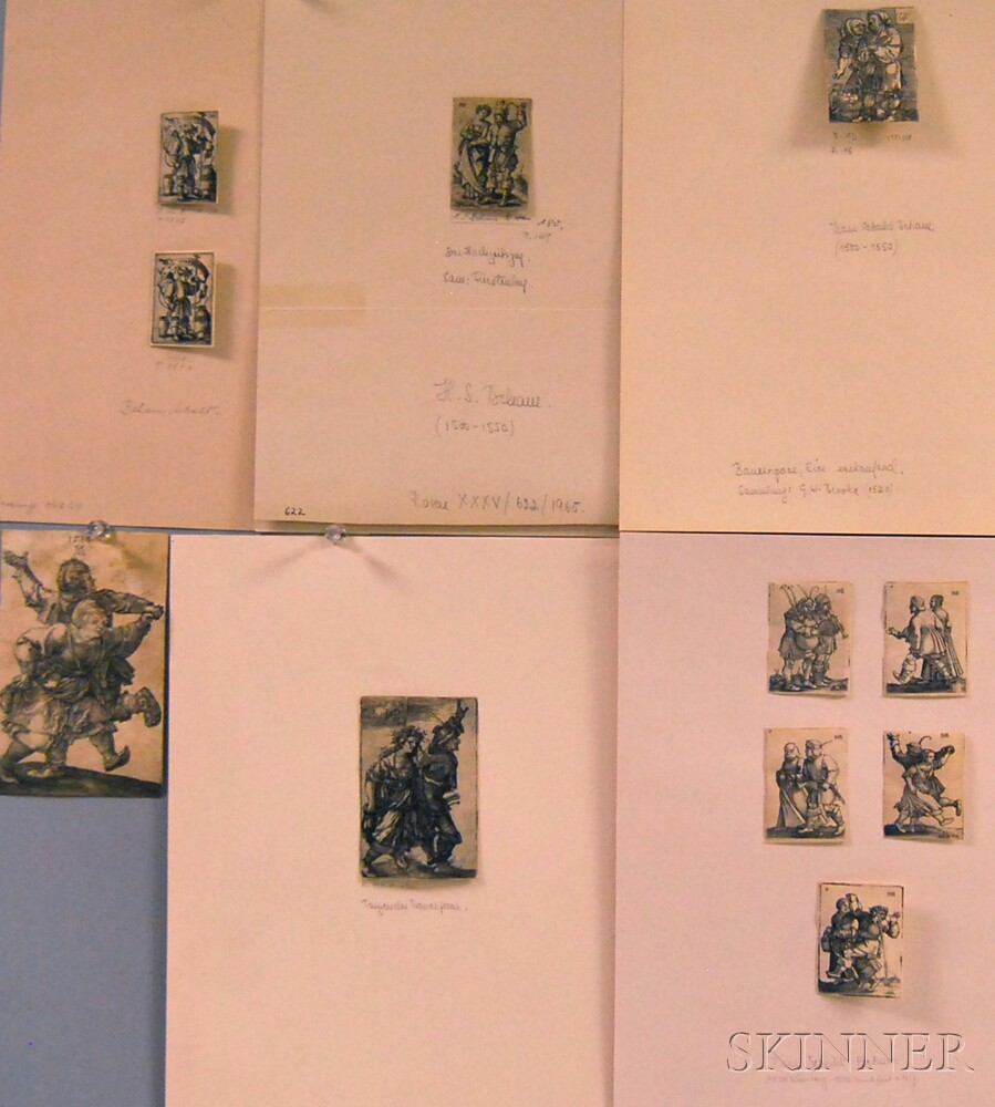 Eleven Unframed German Old Master Engravings: Ten by Hans Sebald Beham...