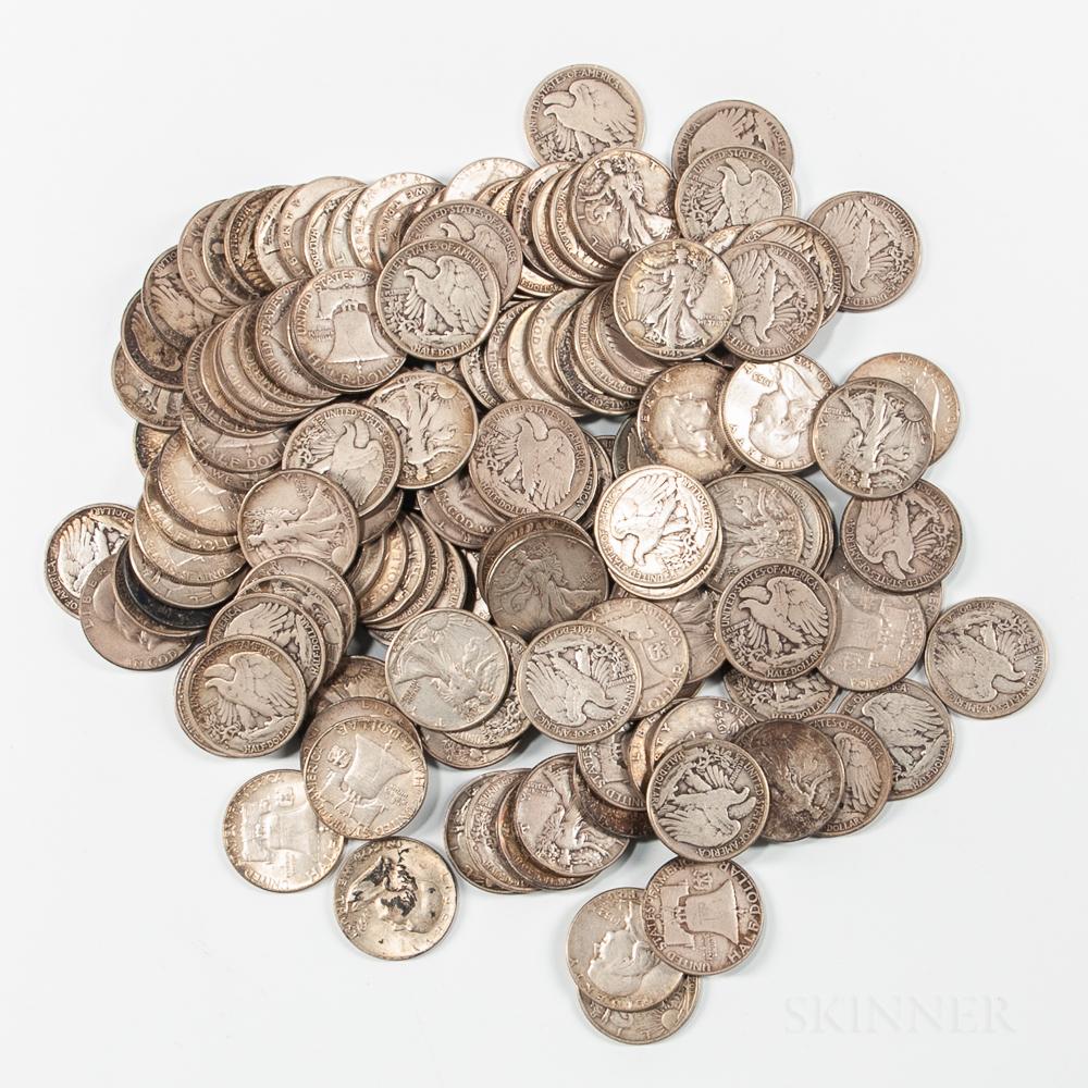 142 Walking Liberty and Franklin Half Dollars