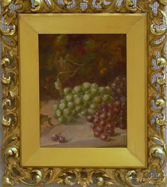 Attributed to Edward Chalmers Leavitt (American, 1842-1904)      Still Life with Grapes