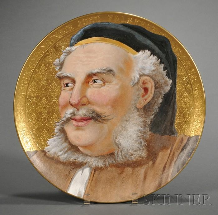Wedgwood Sir John Falstaff Circular Wall Plaque