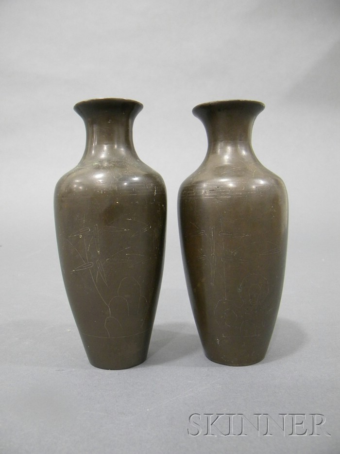 Pair of Shih So Vases