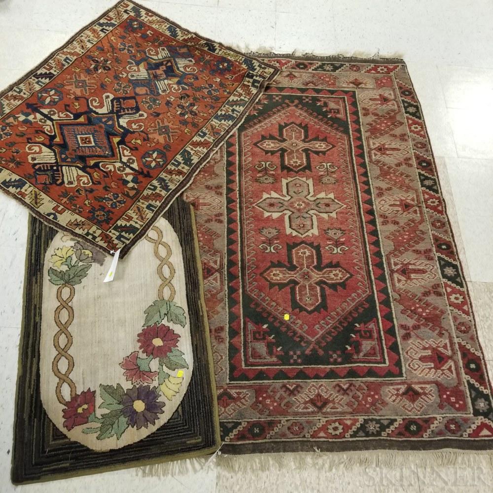 Kuba Rug, a Turkish Rug, and a Hooked Rug