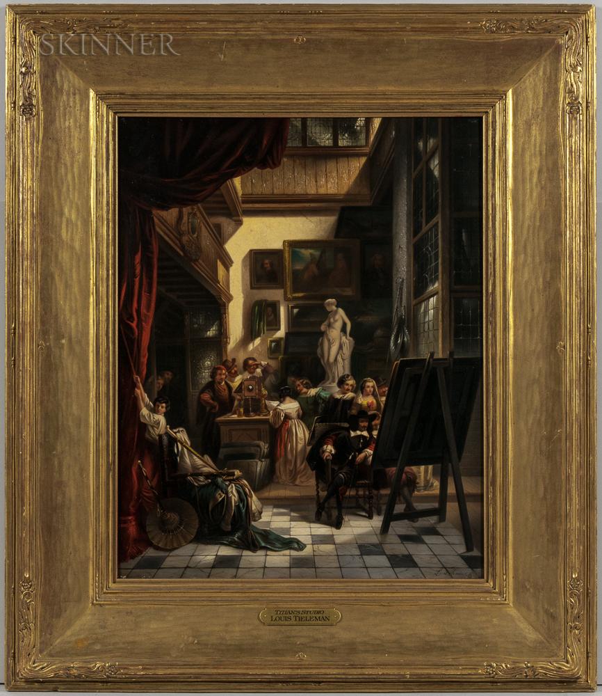 Louis Tielemans (Belgian, 1826-1856)      Titian's Studio