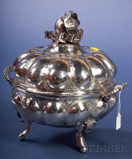 Bolivian Silver and White Metal Covered Tureen