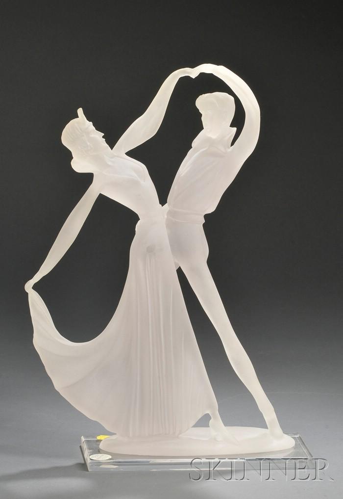 Art Deco Resin Sculpture