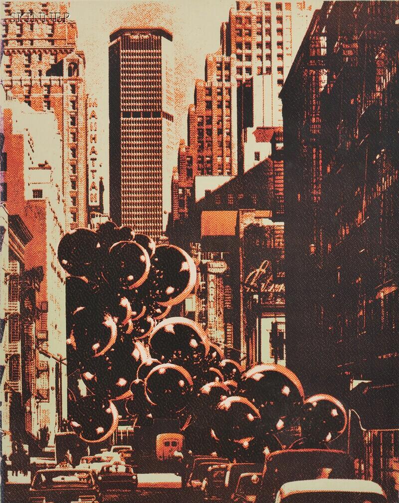 Pol Bury (Belgian, 1922-2005)      Three Compositions:  New York