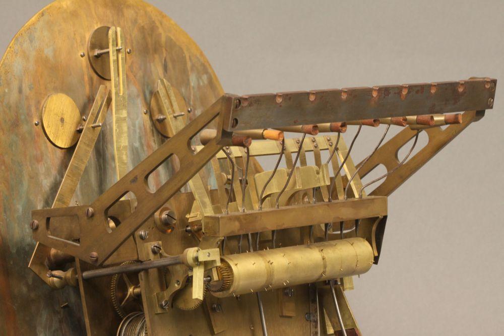 Ebonized Mahogany Rococo Chime Clock