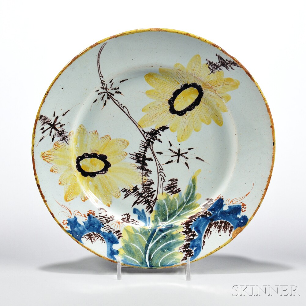 Tin-glazed Earthenware Botanical Plate