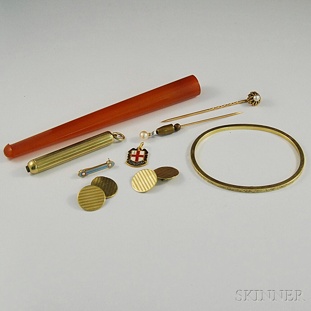 Small Group of Antique Accessories and JewelrySmall Group of Antique...