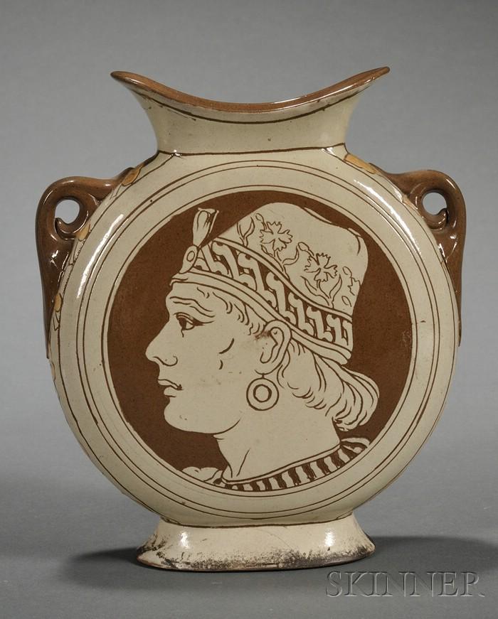 Wedgwood Slip Decorated Pilgrim Vase