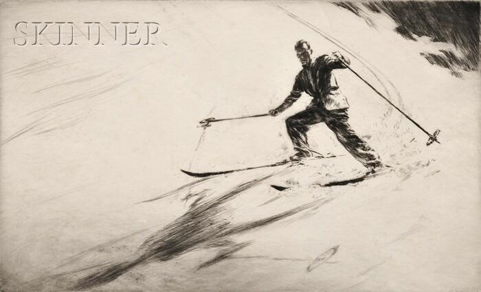Levon West (American, 1900-1968)      Skier