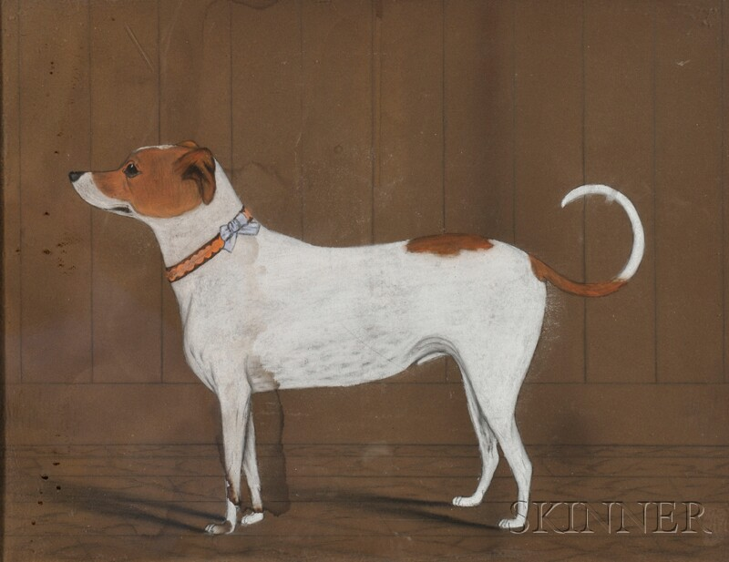 American School, 19th Century      Portrait of a Jack Russell Terrier.