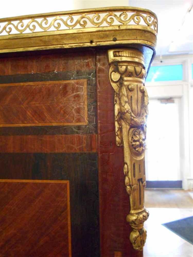 Louis XVI-style Inlaid Library Cabinet