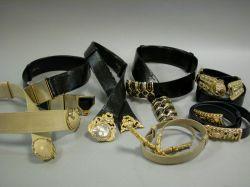 Seven Judith Leiber Belts