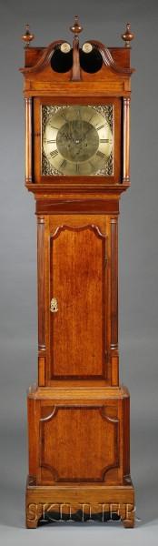 Oak-cased Tall Clock