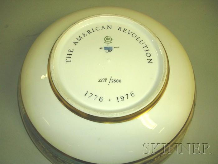 Commemorative Bicentennial Porcelain Punch Bowl