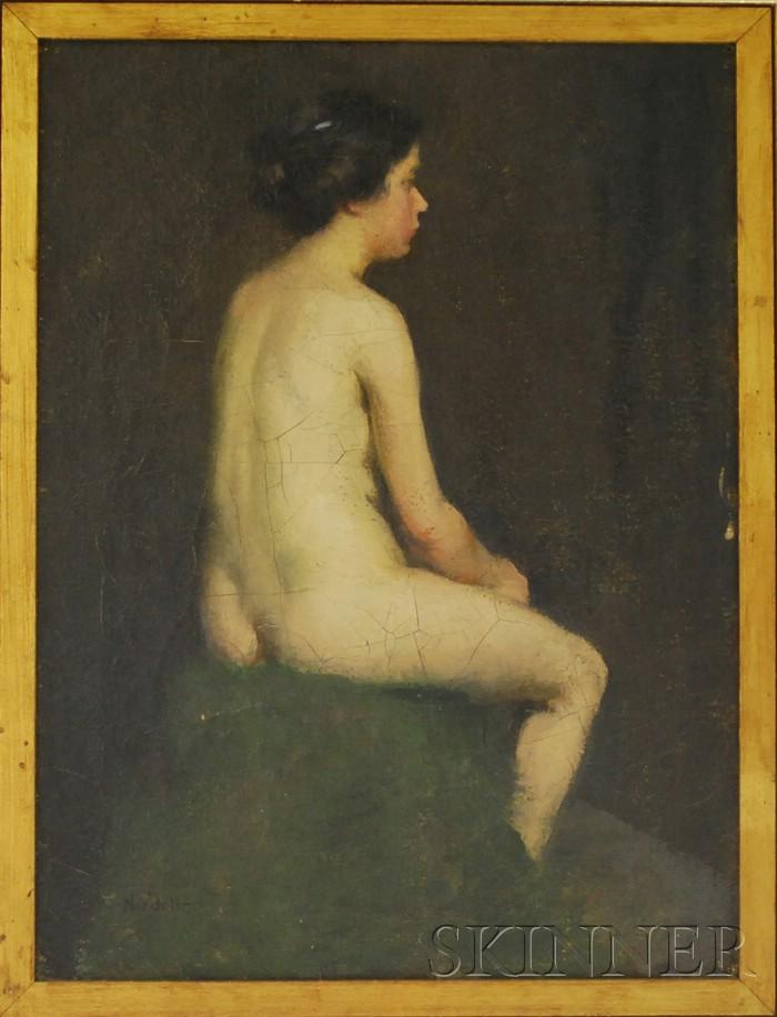 Carl John David Nordell (American, 1885-1957)      Nude Figure Study.