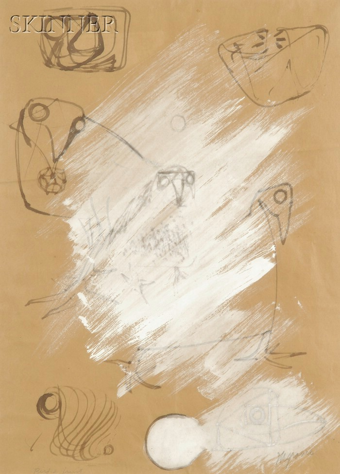 Morris Cole Graves (American, 1910-2001)      Bird & Fruit