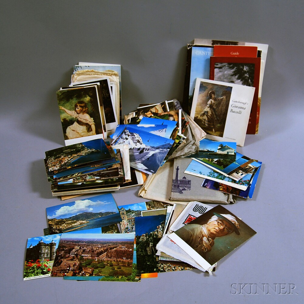 Collection of Art and Travel Postcards and Booklets