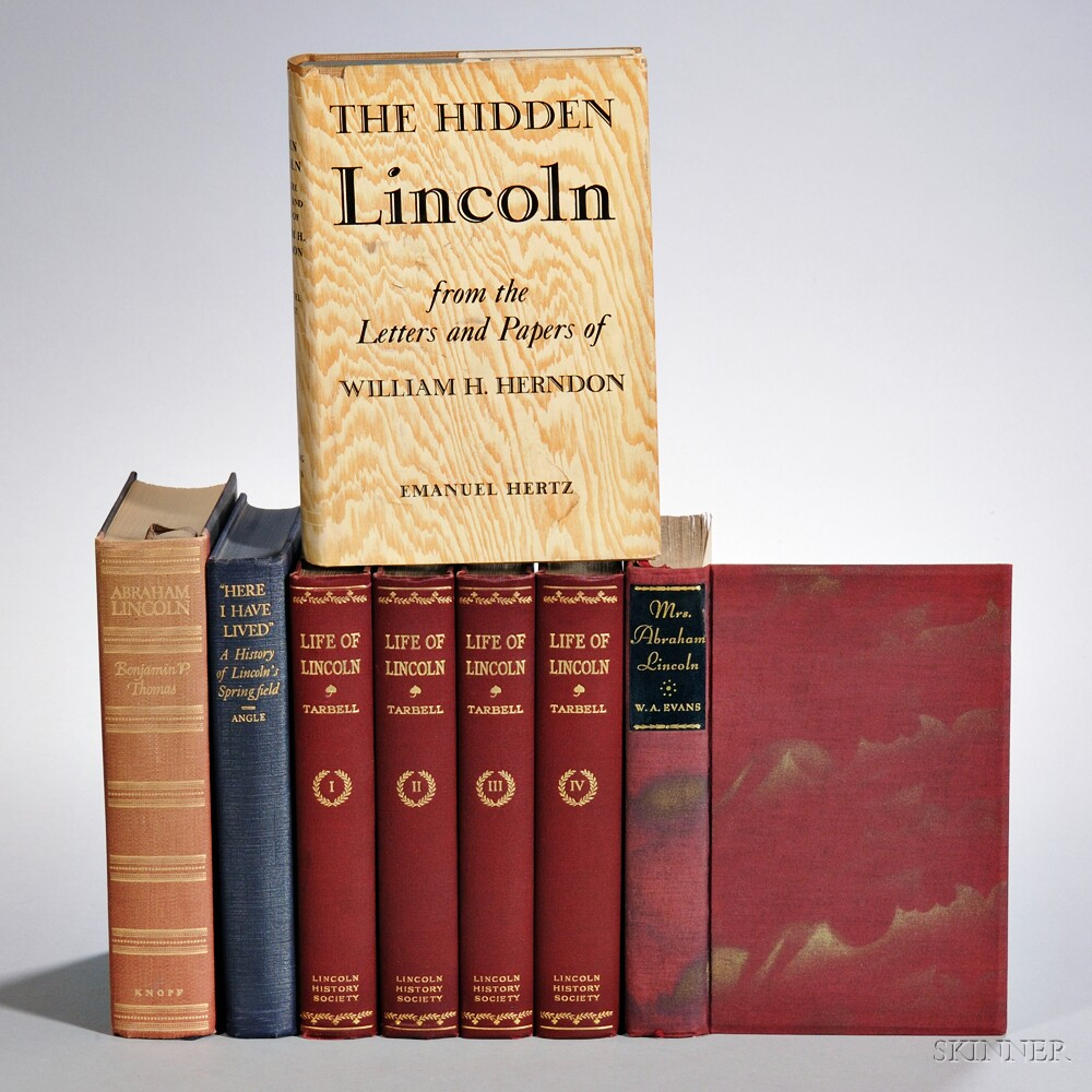 Lincoln, Abraham (1809-1865) Five Titles in Eight Volumes, Signed.