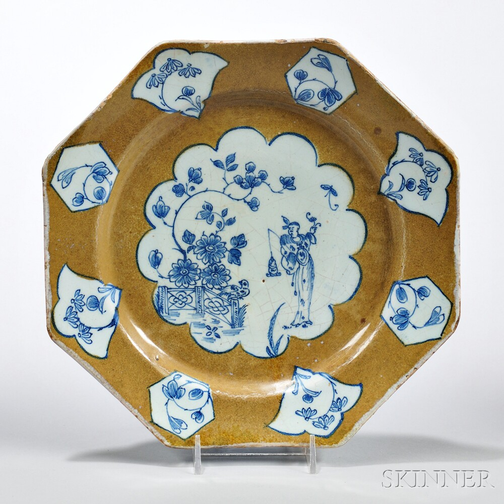 Tin-glazed Earthenware Octagonal Plate