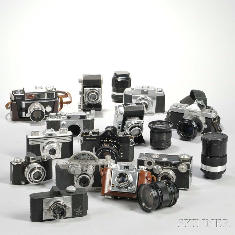 Thirteen 35mm Cameras