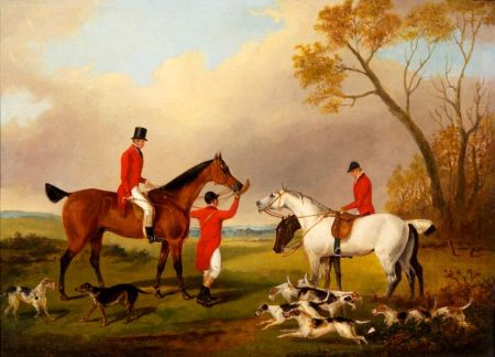 Attributed to George Henry Laporte (German/British, 1799-1873)    After the Hunt