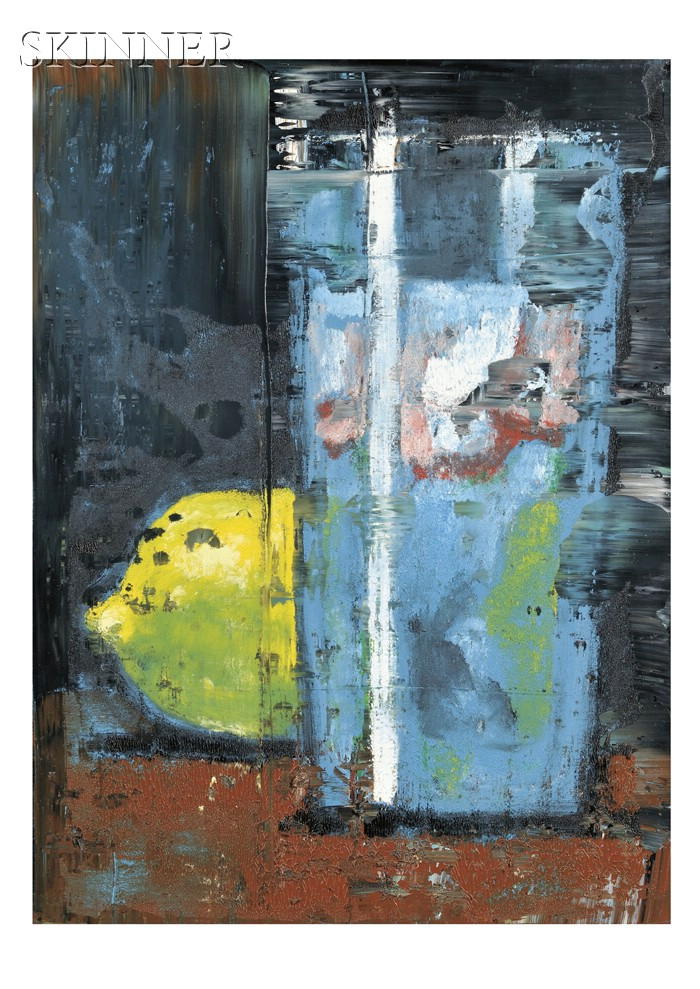 Aaron Fink (American, b. 1955)      Water Glass and Lemon