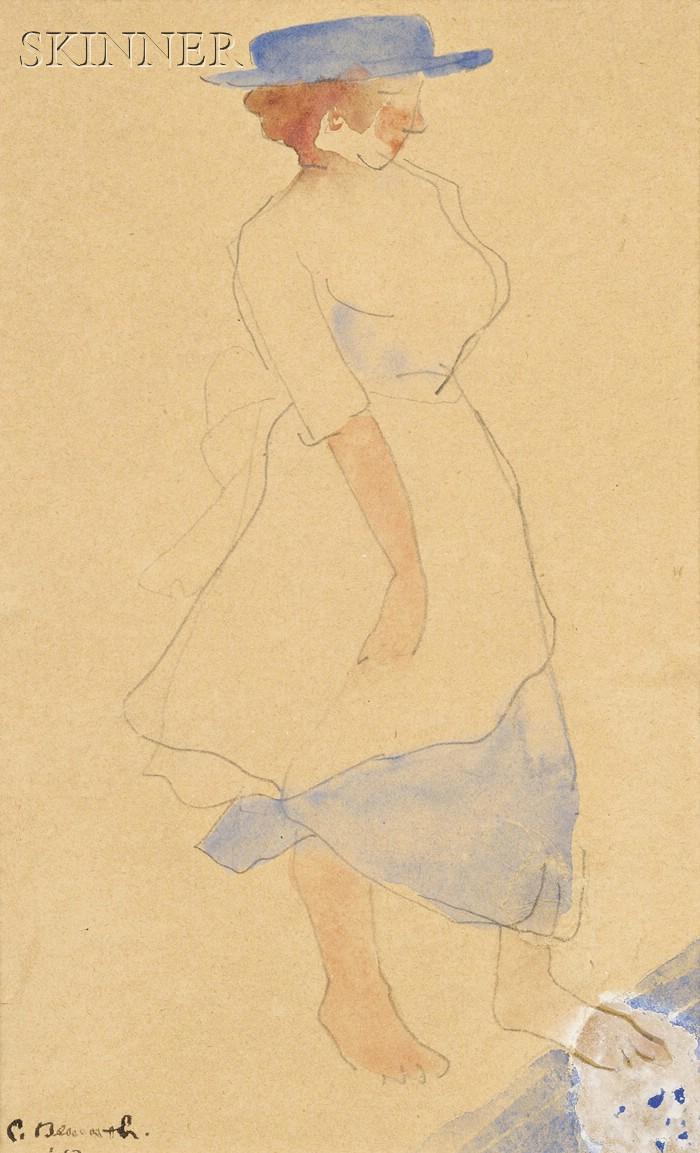 Charles Henry Demuth  (American, 1883-1935)      Blue Hat
