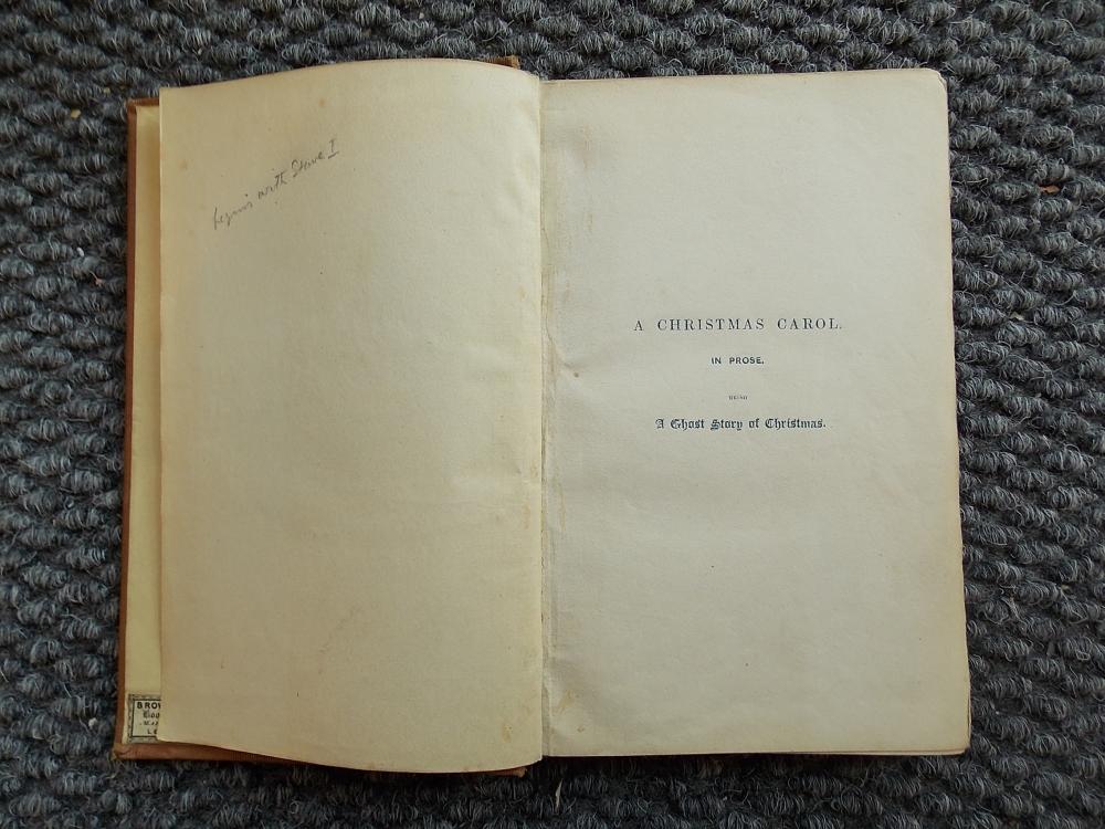 Dickens, Charles (1812-1870) The Christmas Books, Including a Signed Copy of A Christmas Carol