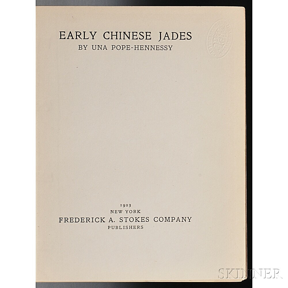 Pope-Hennessy, Una (1876-1949) Early Chinese Jades.