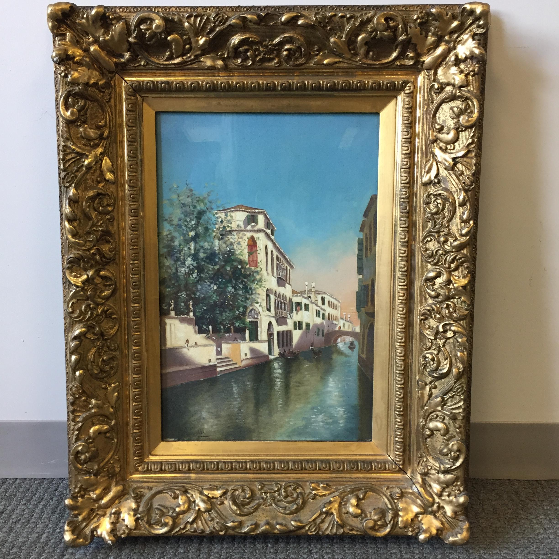 Italian School, 20th Century      View of a Venetian Canal