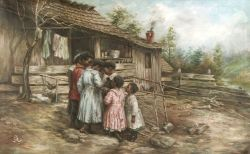 American School, 19th/20th Century  Children Gathered