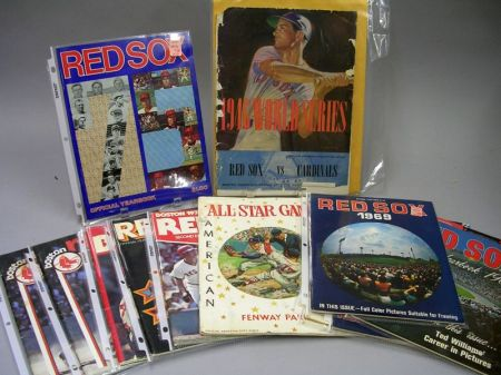 Collection of Boston Red Sox Programs and Yearbooks