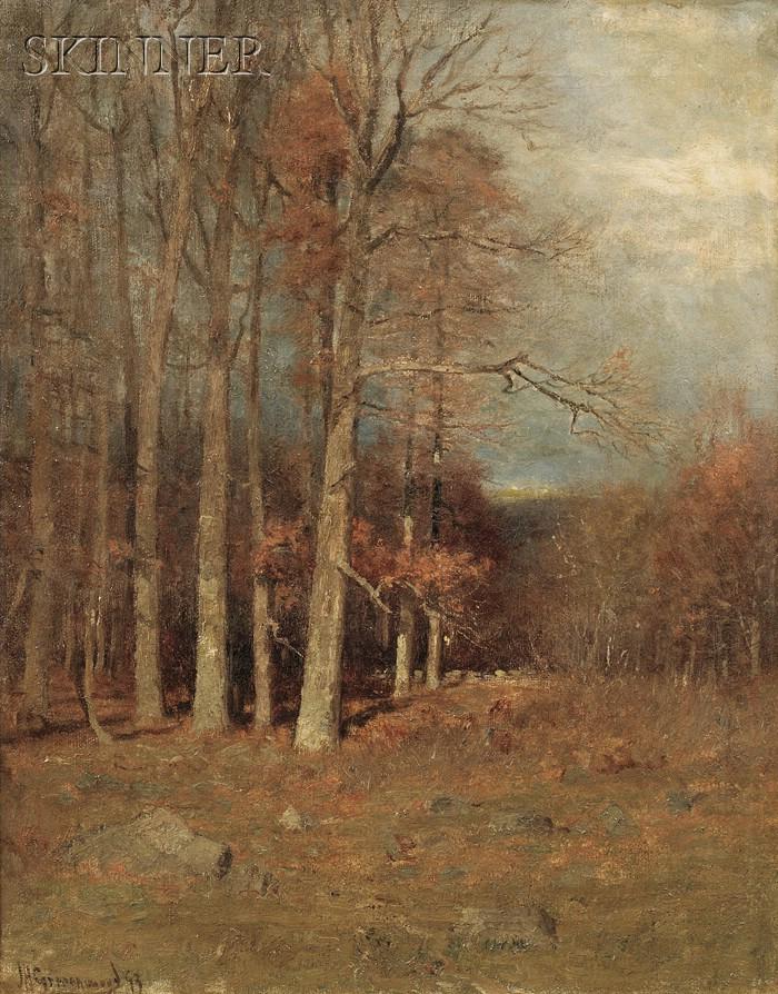 Joseph H. Greenwood  (American, 1857-1927)      Trees in Autumn