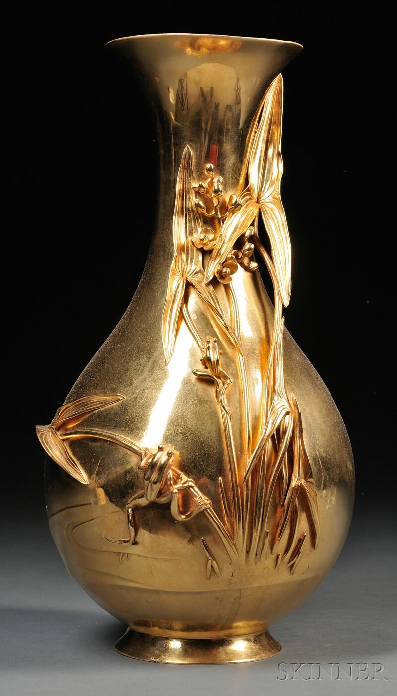 Tall Gilded Vase