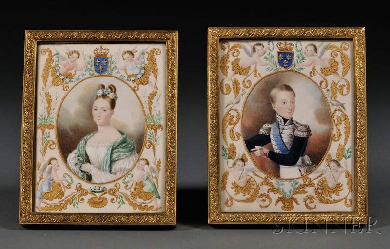 Pair of Framed Portrait Miniatures