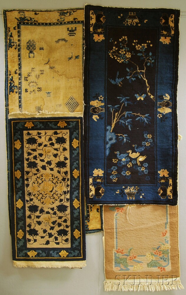 Four Chinese Scatter Rugs