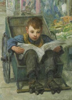Francis Luis Mora (American, 1874-1940)  The Daily News