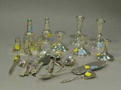 Large Group of Sterling Silver Flatware and Tableware